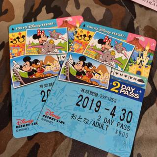 ディズニー(Disney)のリゾートライン フリー きっぷ 2day pass 未使用(鉄道乗車券)