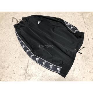 [used]'adidas' black sleeve print jacket(ジャージ)