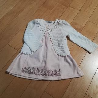 キャサリンコテージ(Catherine Cottage)の☆Kaori様専用☆カーディガン、ワンピース、靴下セット(90-100)(ワンピース)