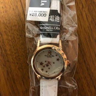 アンクラーク(ANNE CLARK)の新品タグ付き ANNE CLARK ピンクの星の腕時計(腕時計)