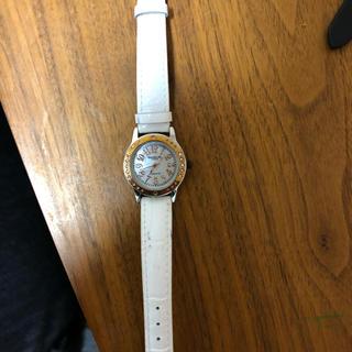 アンクラーク(ANNE CLARK)の未使用 訳あり ANNE CLARK 白の腕時計(腕時計)