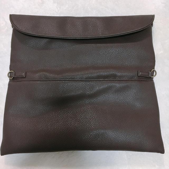 nano・universe(ナノユニバース)のナノユニバース★2wayクラッチショルダーバッグ ブラウン メンズのバッグ(セカンドバッグ/クラッチバッグ)の商品写真