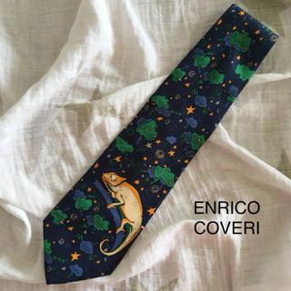 エンリココベリ(ENRICO COVERI)の美品 エンリココベリ ネクタイ シルク イタリア製 カメレオン(ネクタイ)