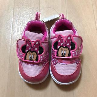 ディズニー(Disney)のスニーカー ミニー ピンク 女の子 靴 14cm 西松屋 ディズニー 新品 タグ(スニーカー)