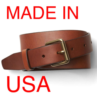 ギャップ(GAP)の新品 USA製 gap レザー ローラーバックル チノ ベルト 本革 ブラウン(ベルト)