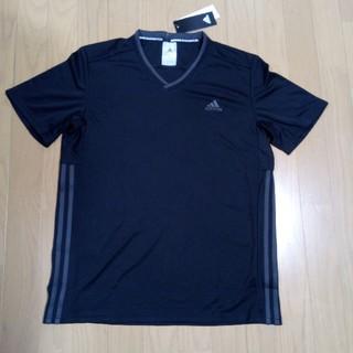アディダス(adidas)のアディダス Tシャツ サイズL 未使用 着痩せ効果 バドミントン(Tシャツ/カットソー(半袖/袖なし))