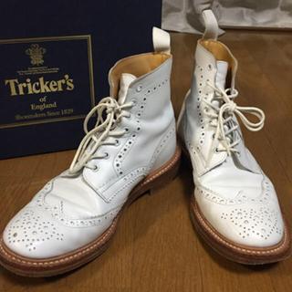 トリッカーズ(Trickers)の【Tricker's】ホワイト カントリーブーツ トリッカーズ(ブーツ)