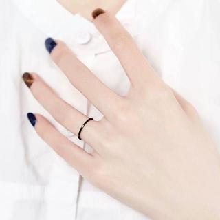 218 新着 ステンレスリング シンプル 華奢 可愛い アレルギー 指輪超極細(リング(指輪))