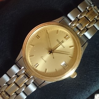 ウォルサム(Waltham)の90年代ウォルサムWALTHAMクォーツ 金属ベルト箱付き新品同様品(腕時計(アナログ))