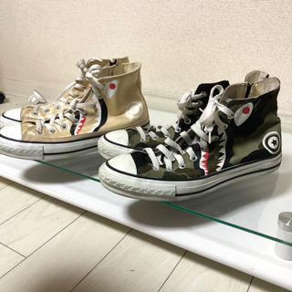 アベイシングエイプ(A BATHING APE)のbape shark converse shoes(スニーカー)