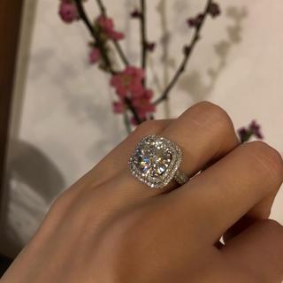3カラット★モアサナイト&ダイヤモンド(リング(指輪))