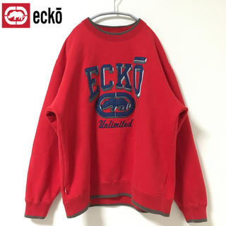 エコーアンリミテッド(ECKŌ UNLTD(ECKO UNLTD))の90's ECKO エコー/ ビックロゴ スウェット トレーナー(スウェット)