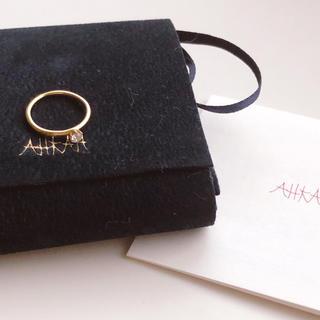 アーカー(AHKAH)の美品★ AHKAH バースリング ピンキーリング(リング(指輪))
