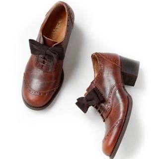ジェーンマープル(JaneMarple)のJaneMarple オペラリボンのウイングチップシューズ(ローファー/革靴)