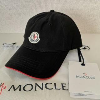 モンクレール(MONCLER)の新品 Moncler ロゴ ワッペン キャップ 黒(キャップ)