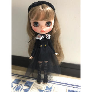 刺繍襟付ミニワンピセット(ピンク)(人形)