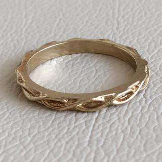 (112)編み目模様のシンプルリング ゴールド ヴィンテージ(リング(指輪))