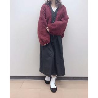 ナチュラルクチュール(natural couture)のnatural couture  ボアジャケット ブルゾン ボルドー(ブルゾン)