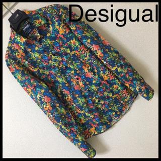 デシグアル(DESIGUAL)の◆良品◆Desigual デジグアル◆シャツ 花柄 フラワープリント 水彩 S(シャツ)