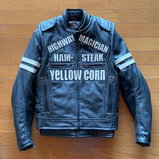 イエローコーン(YeLLOW CORN)のYELLOW CORN 合皮 ライダース ジャケット 未使用 イエローコーン(ライダースジャケット)