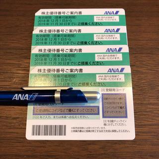 エーエヌエー(ゼンニッポンクウユ)(ANA(全日本空輸))のmocopan様専用 ANA 株主優待券 4枚(その他)