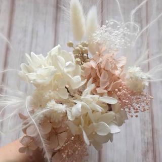 ヘッドパーツ 髪飾り ヌードピンク×オフホワイト(ヘアアクセサリー)