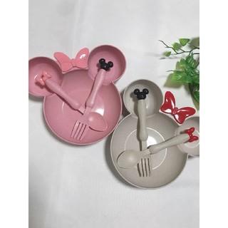 ディズニー(Disney)のピンク×2(離乳食器セット)
