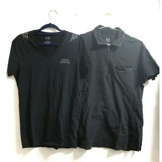 アルマーニエクスチェンジ(ARMANI EXCHANGE)の確実本物 ARMANI アルマーニ エクスチェンジ ポロシャツ Tシャツ セット(Tシャツ/カットソー(半袖/袖なし))