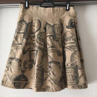 アンティーク柄スウェードスカート