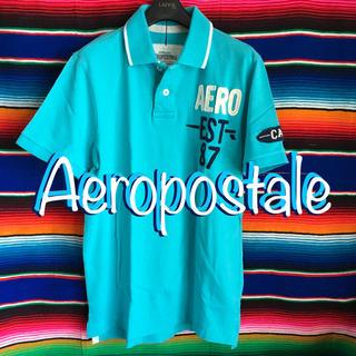 エアロポステール(AEROPOSTALE)のAEROエアロポステールUS 限定caliサーフデザインポロシャツS  blue(ポロシャツ)