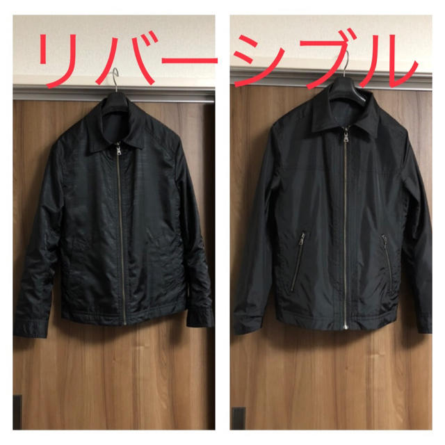 BURBERRY BLACK LABEL(バーバリーブラックレーベル)のメンズ☆リバーシブル☆ウィンドブレーカー☆サイズM☆ブラック☆バーバリーチェック メンズのジャケット/アウター(ナイロンジャケット)の商品写真