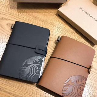 スターバックスコーヒー(Starbucks Coffee)のセット!レザー カードケース ノート シール 手帳 カードホルダー 海外スタバ(ノベルティグッズ)