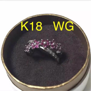 刻印あり k18 ルビー ダイヤモンドリング(リング(指輪))
