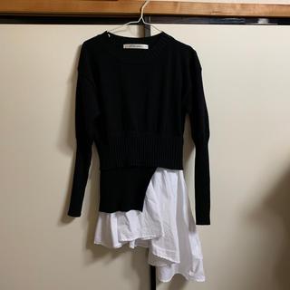 コウベレタス(神戸レタス)の裾シャツレイヤード風チュニック(チュニック)