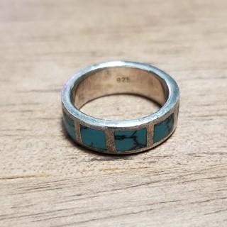 インディアンジュエリー インレイリング シルバー 925 ズニ(リング(指輪))
