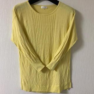 スーツカンパニー(THE SUIT COMPANY)のスーツカンパニー 春夏 黄色ニット(ニット/セーター)