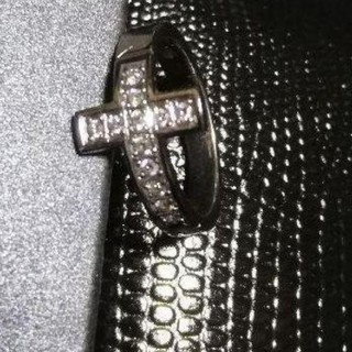 スタージュエリー(STAR JEWELRY)のsjx K18 ホワイトゴールド ダイヤモンド リング クロス 18K Y-3(リング(指輪))