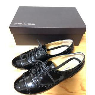 ペリーコ(PELLICO)のペリーコ 黒エナメル レースアップシューズ 35.5(ローファー/革靴)