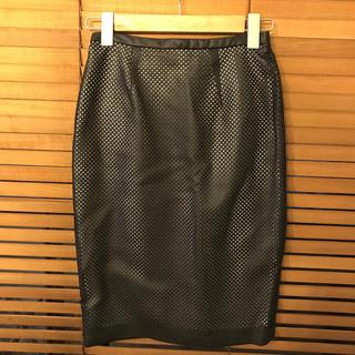 ジーヴィジーヴィ(G.V.G.V.)のGVGV パンチングタイトスカート サイズ 34(ひざ丈スカート)