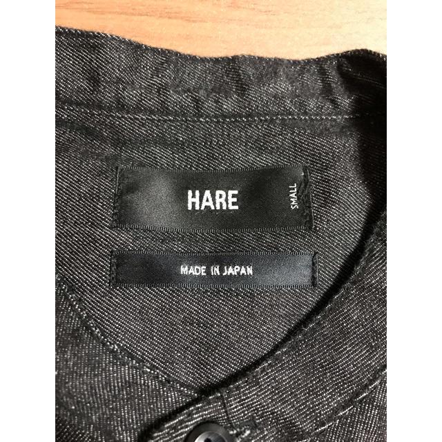 HARE(ハレ)の【S】HARE ノーカラーシャツ デニム 黒 メンズのジャケット/アウター(ノーカラージャケット)の商品写真