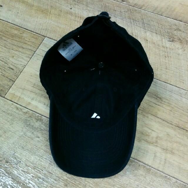 adidas(アディダス)の新品adidasキャップ ブラック ロゴホワイト レディースの帽子(キャップ)の商品写真