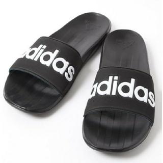 アディダス(adidas)の新品 送料込み アディダス 黒 カロズ-ン 27.5センチ ブラック(サンダル)
