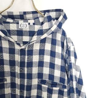 フォーサーティ(430)の日本製★430 FOURTHIRTY フード パーカー チェックシャツ(シャツ)