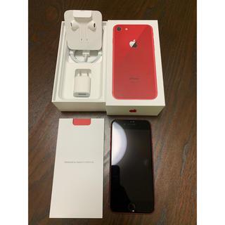 アイフォーン(iPhone)の超美品 iPhone8 256GB  RED  SIMフリー済(スマートフォン本体)