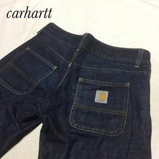 カーハート(carhartt)の濃紺 美品 carhartt カーハート レディース サイズ27約77cm(デニム/ジーンズ)