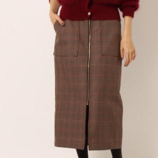 バビロン(BABYLONE)のセンタージップ チェックスカート 完売品 タグ付新品(ひざ丈スカート)