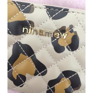ニーナミュウ(Nina mew)の【Nina mew】ニーナミュウ  ラウンド長財布 レオパード柄  新品(財布)