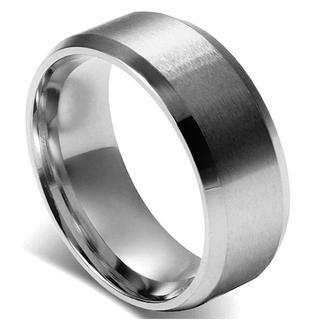 即買いOK★8mm メンズ ステンレスリング 25号 シルバー(リング(指輪))