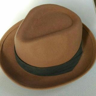 アングリッド(Ungrid)のUngrid ハット 帽子 スエード ベージュ(ハット)
