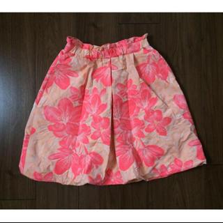 カオン(Kaon)のカオン Kaon◆一度着美品 ◆ フラワージャガードスカート ♪(ひざ丈スカート)